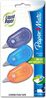 Liquid Paper Dry Line I-Mini Correction Tape 3-pack