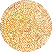 Hester and Cook Round Disposable Paper Placemats - Jute Braided Place Mats for Dining Table for - 12 Sheets Per Pad Americ...