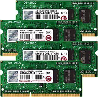 Transcend TS16GJMA584H JetMemory - Kit de Memoria RAM de 16 GB para Apple iMac 2013 (204 Pin SO-DIMM, DDR3 SDRAM, 1600 MHz, 4 x 4 GB, CL 11)