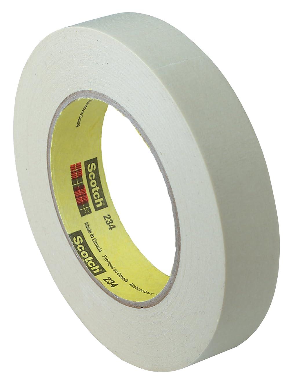 3M 85550-case General Purpose Masking Tape 234 Tan, 24 mm x 55 m, 5.9 mil (Pack of 36)