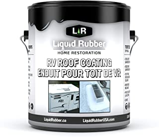 Liquid Rubber RV Roof Coating - Solar Reflective Sealant - Waterproof - Easy to Apply - Brilliant White,1 Gallon