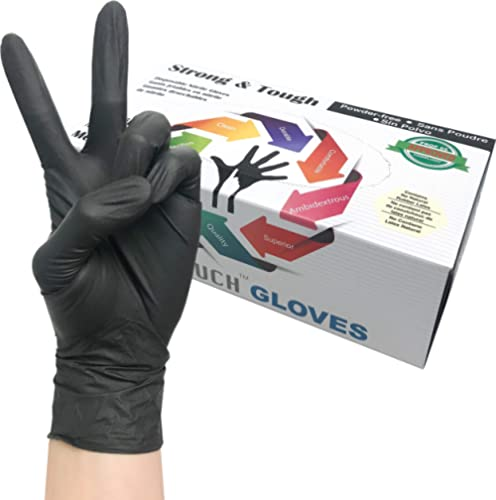 Heavy Duty Nitrile Gloves, Infi-Touch Strong & Tough, High Chemical Resistant, Disposable Gloves, Powder-Free, Non St...