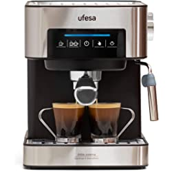 Ufesa CE7255 Cafetera Expresso y Capuccino con Panel Táctil