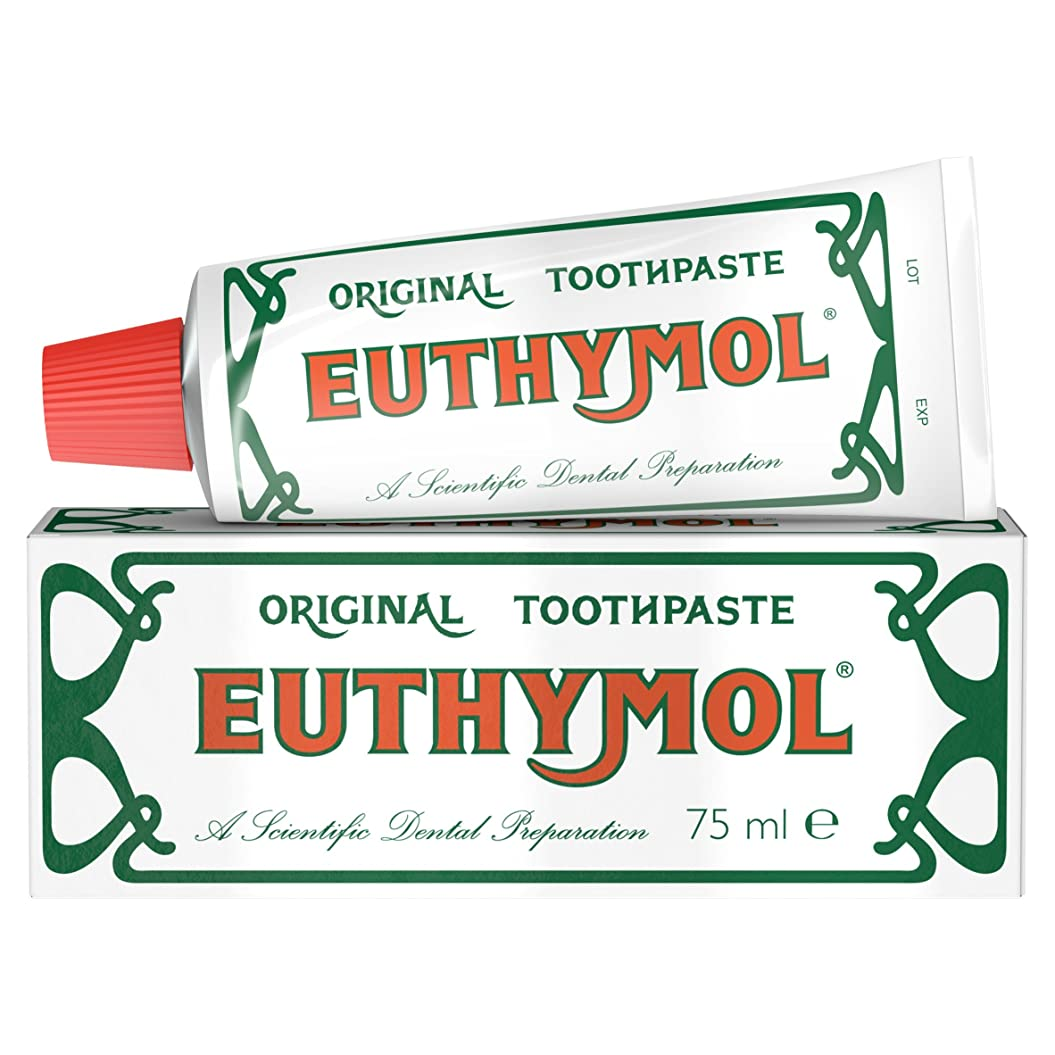 引退する礼拝福祉Euthymol オリジナル歯磨き粉 75ml 並行輸入品 Euthymol Original Toothpaste 75 Ml
