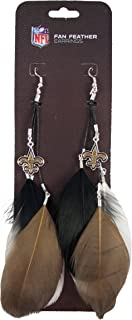 NFL New Orleans Saints Feather Earrings