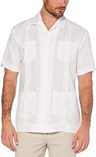 Cubavera Men's Short Sleeve 100% Linen Cuban Camp...