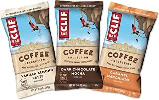 Clif Bars with 1 Shot of Espresso - Energy Bars - Coffee Collection - Variety Pack - 65 MGS of Caffeine Per Bar (2.4 Ounce...