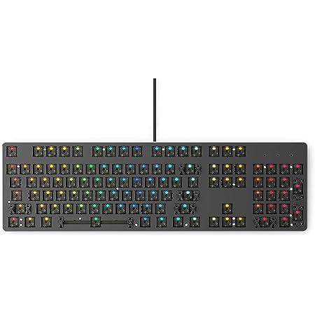Glorious GMMK Modular Mechanical Gaming Keyboard - Barebone Edition (DIY Assembly Required) - RGB LED Backlit, Hot Swap Switches (Customizable) (Full Size, Black)