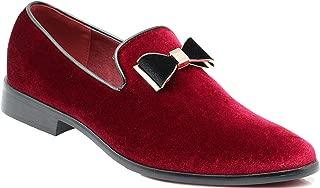SPK03 Men's Vintage Plain Velvet Dress Loafers Slip On Shoes Classic Tuxedo Dress Shoes