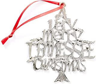 Handmade Tennessee TN Christmas Ornament Pewter