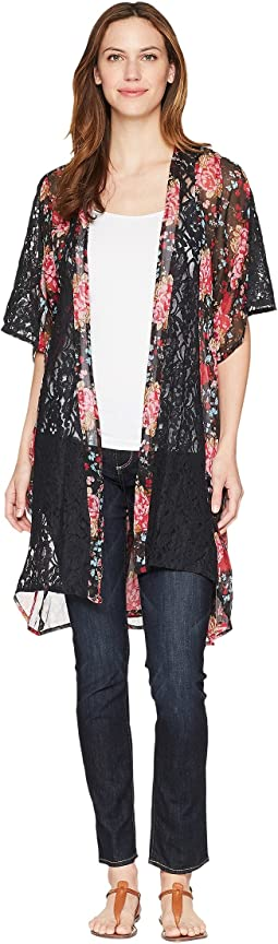 Rock and Roll Cowgirl - 1/2 Sleeve Kimono B4-4295