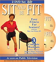 Sit & Be Fit: Diabetes & Balance Workouts: Senior Chair Fitness Exercise Award-Winning Set, Stretching, Aerobics, Strength Training, and Balance. Improve flexibility, muscle and bone strength, circulation, heart health, and stability.