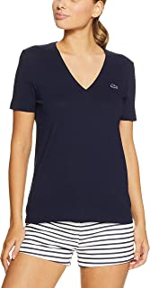 Lacoste Women's Basic V Neck Tee