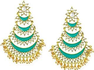 Zaveri Pearls Chand Bali for Women (Golden)(ZPFK6706)