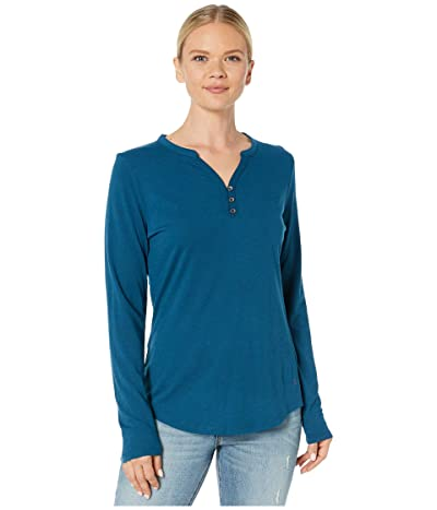 Royal Robbins Merinoluxtm Henley Long Sleeve (Harbor) Women