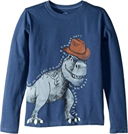 Tyrannosaurus Tex Crusher T-Shirt Long Sleeve (Little Kids/Big Kids)