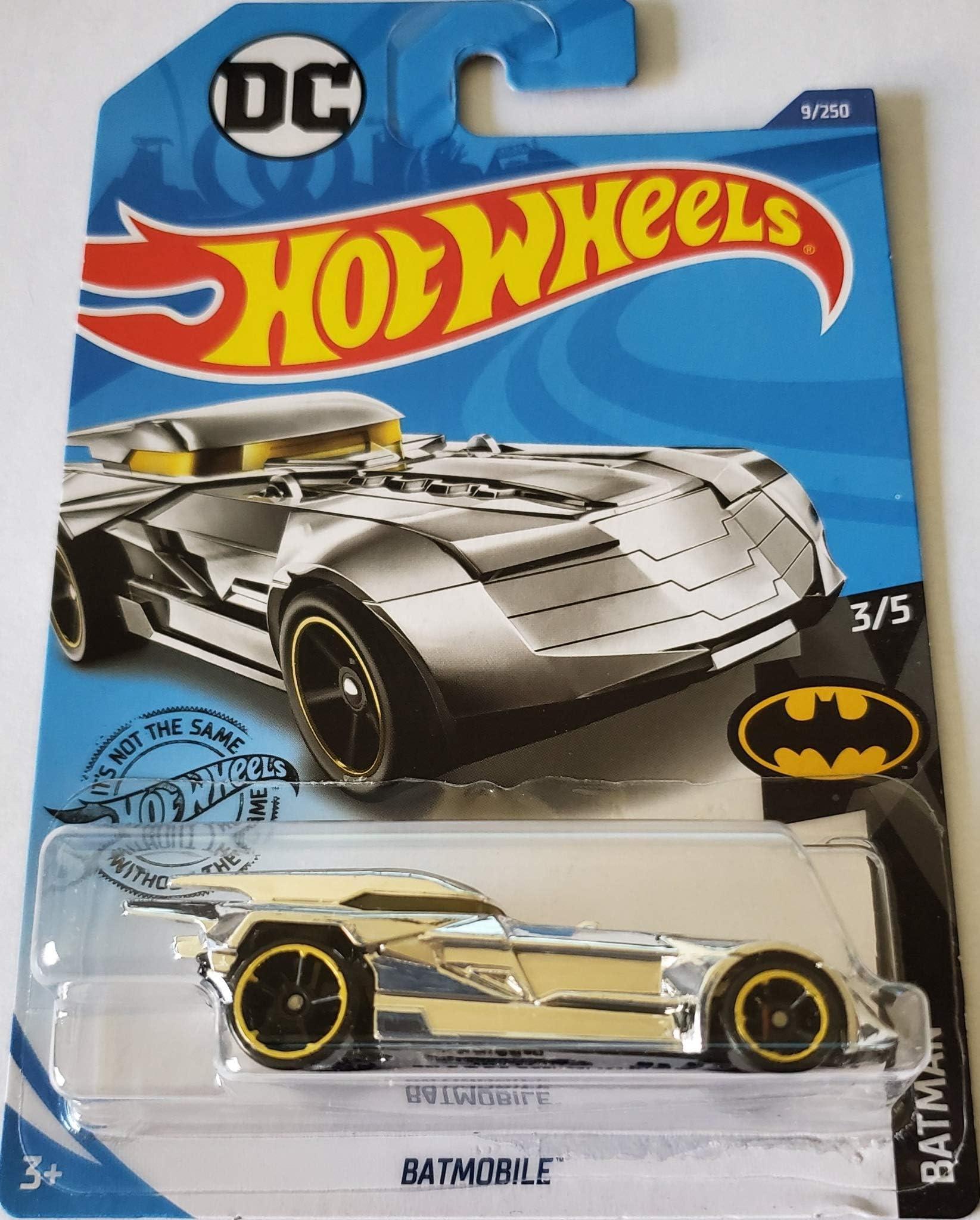 Hot Wheels 2020 HW Batman Series 3//5 Gold Chrome Knight Batmobile