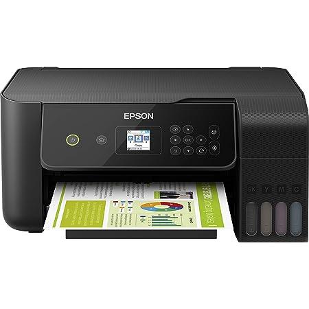Epson Imprimante EcoTank ET-2720 avec réservoirs, Multifonction 3-en-1: Imprimante / Scanner / Copieur, A4, Jet d'encre couleur, Wifi Direct, Kit d'encre inclus, Faible coût par page, Ecran, Compact