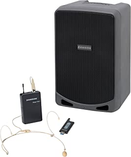 Samson Expedition XP106wDE Rechargeable Portable PA System with Wireless Headset Microphone and Bluetooth