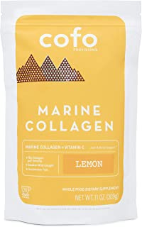 Cofo Provisions Marine Collagen + Vitamin C Superpowder, Lemon, Sustainably-Sourced Alaskan Wild-Caught, Joint Bone Skin S...