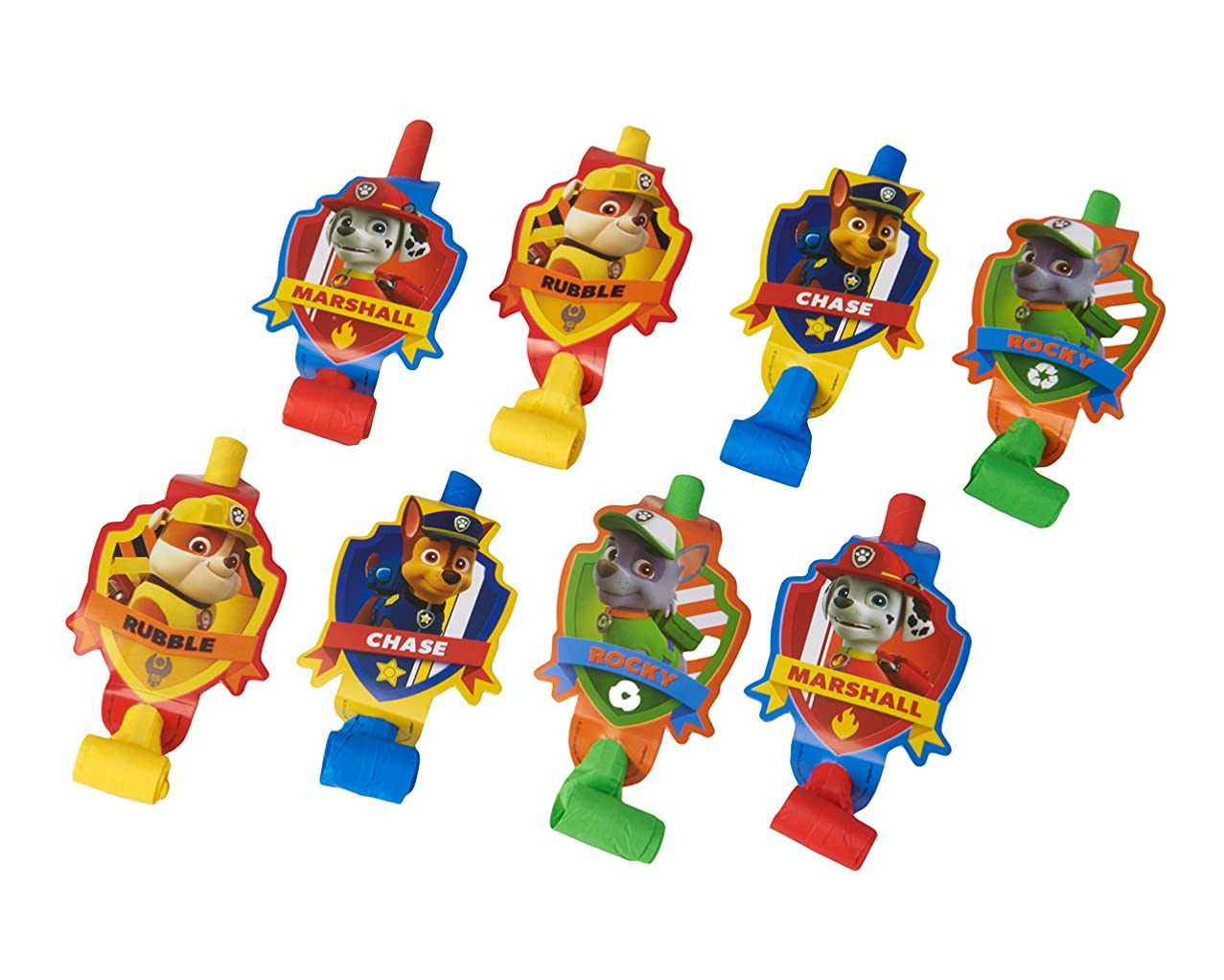 American Greetings Paw Patrol Party Favors, Multicolor Party Blowers, 8-Count