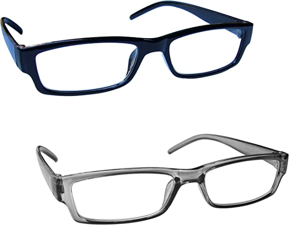 The Reading Glasses Company Black Readers Value 2 Pack Mens Womens UVR2092BK ...