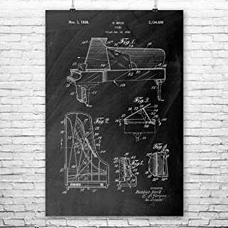 Patent Earth Steinway Piano Poster Print, Pianist Gift, Concert Hall Art, Musician Gift, Piano Wall Art, Piano Decor, Piano Art Print