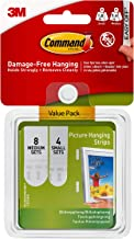 Command Picture Hanging Strips Variety Value Pack, 4-Small and 8-Medium Pairs (17203-ES)