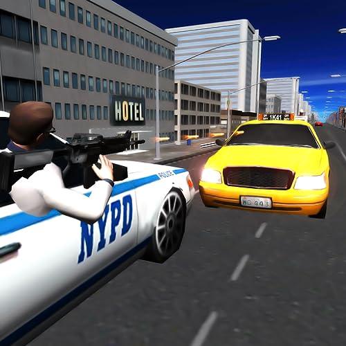 Persecución del coche de policía Crime City 3D
