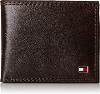 Tommy Hilfiger Men's Leather Wallet - Thin Sleek Casual...