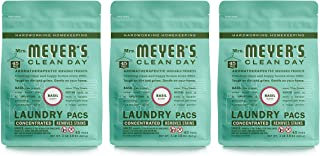 Mrs. Meyer's Clean Day Automatic Dish Packs, Basil, 20 ct, 3 un