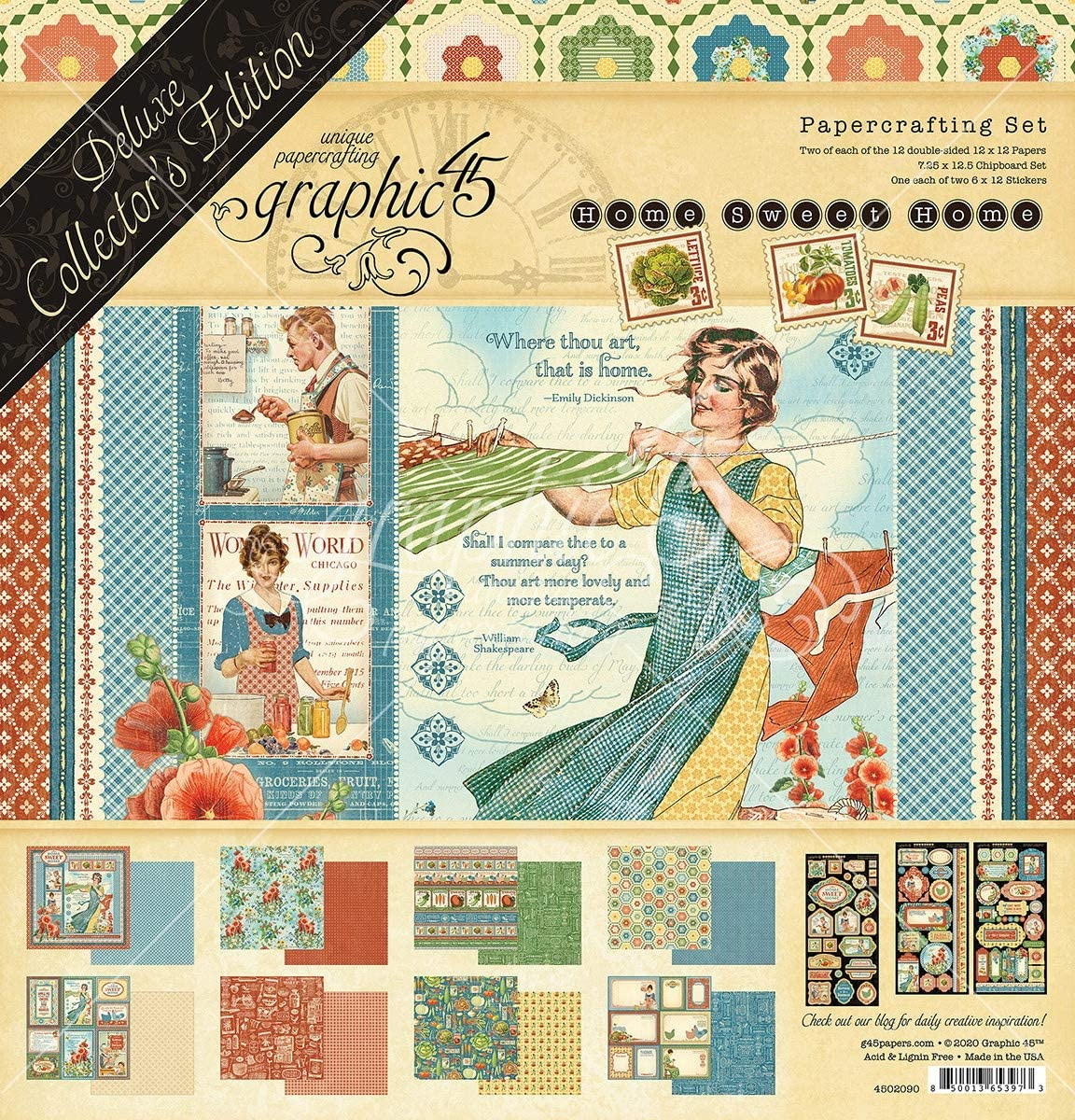 Chicago Mall GRAPHIC 45 DLX COLLECTR ED Home Pack Kansas City Mall Sweet