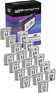 Speedy Inks Remanufactured Ink Cartridge Replacement for HP 11 (6 Black, 4 Cyan, 4 Magenta, 4 Yellow, 18-Pack)