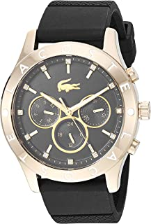 Lacoste Women's 'Charlotte' Quartz Stainless Steel and Rubber Casual Watch, Color:Black (Model: 2000961)
