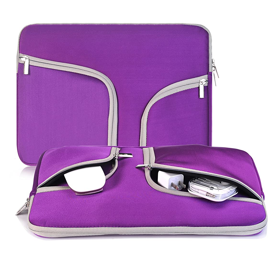 egiant Laptop Sleeve 14-15.4 inch,Water-Resistant Protective Notebook Case Bag Compatible Mac Pro 15 Retina|Mac pro 15 Touch bar A1707|Stream 14|Chromebook 14,Computer Notebook Carrying Case-Purple