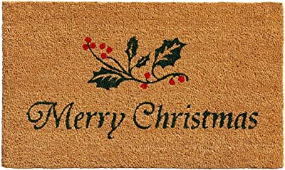 "callowaymills 101881729 Christmas Holly Doormat, 17"""" x 29"""""", Multi Color"