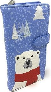 True North Polar Bear Large Women's Wallet Blue