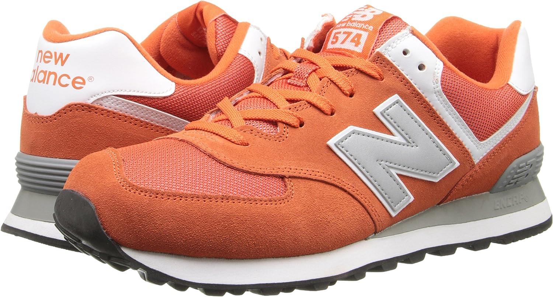 New Balance 574, Baskets Basses Mixte, Orange-Orange (Vao Orange ...