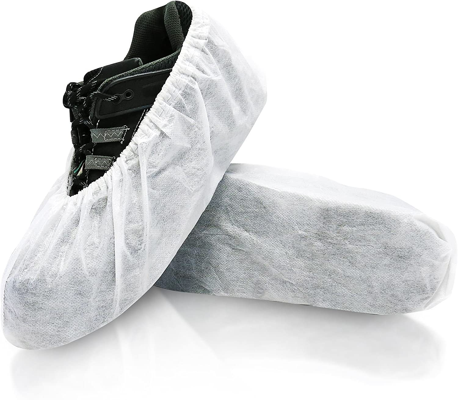 blueeMed SHS-1501-C Cosmic Disposable shoes Covers, Polypropylene and polyethylene Fabric, Universal, 6.89  x 16.54 , White (Pack of 300)