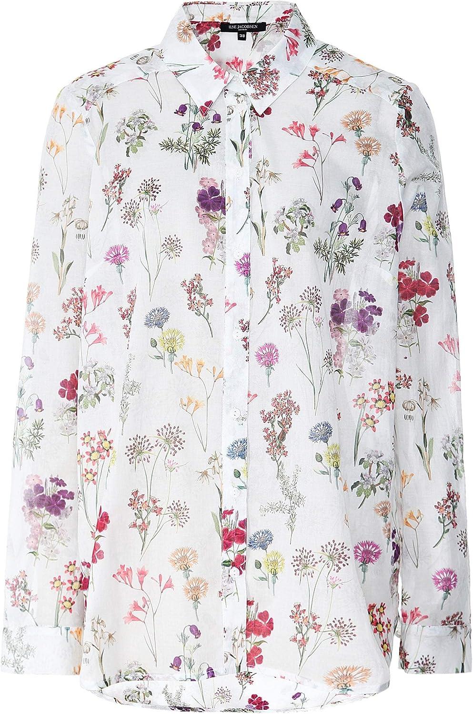 ILSE JACOBSEN Women's Floral Print Shirt White