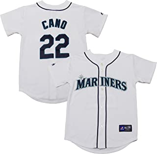 Outerstuff Robinson Cano Seattle Mariners #22 White Kids Authentic Home Replica Jersey