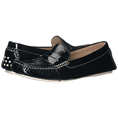 Johnston & Murphy Maggie Penny (Black Italian Soft Patent Leather) Women