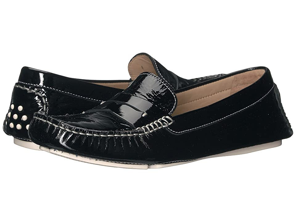 Johnston & Murphy Maggie Penny (Black Italian Soft Patent Leather) Women