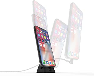 Lightning CordDock V2 Hybrid iPhone Dock (Cable Included) - Fast Charging + Easy Undocking with Cord, Apple MFi Certified, Micro Suction, Use with Cases, iPhone Xs/Xs Max/XR/X /8/8 Plus/ 7/7 Plus
