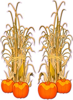 Nostalgia Decals Halloween Corn Stalks Wall or Window Decor Decal Pair Each 24