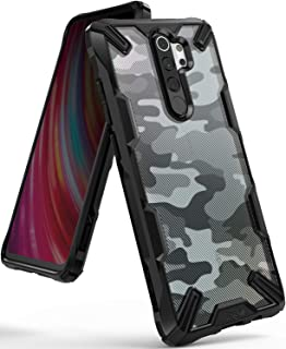 Ringke Fusion-X Designed for Redmi Note 8 Pro Case Back Cover, [Military Drop Tested] Ergonomic PC Back TPU Bumper Impact Resistant Protection for Xiaomi Redmi Note 8 Pro Back Cover Case - Camo Black