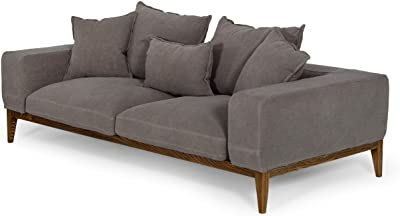 Limari Home Adalbert Collection Modern Style Living Room Fabric Upholstered Sofa With Solid Wood and Plywood Frame, Gray