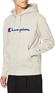 [チャンピオン] パーカー 綿100% スクリプトロゴ フーデッドスウェットシャツ ベーシックメンズ C3-Q102
