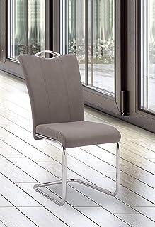 Studio Decor Austria Juego 4 sillas Tap. jarama, Tela y Madera cromada, Marengo, Unico
