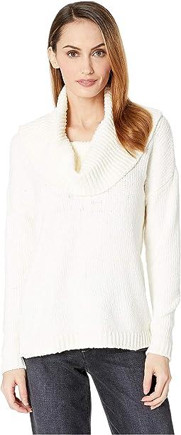 Long Sleeve Velvet Cowl Sweater